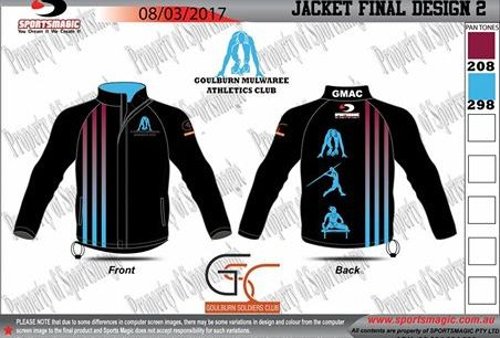 Great excitement that we launch our Goulburn Mulwaree Athletics Club Jacket!