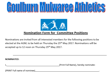 AGM & Commitee positions available.